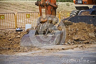 Large Construction Excavation, detail
