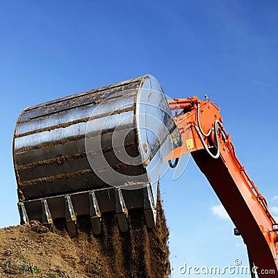 Free Large Construction Shovel Royalty Free Stock Photo - 10664115