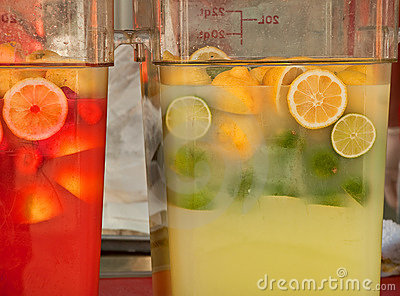 Large Containers of Lemonade, Limeade and Punch