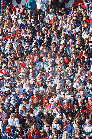 Large crowd of people watching event Editorial Stock Image