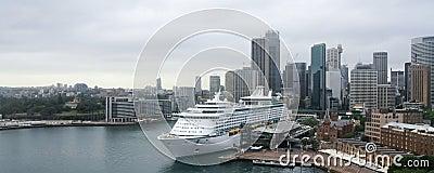 Large cruise ocean liner in Sydney, Australia