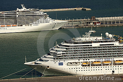 Large cruise ships Editorial Image