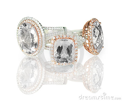 Large cushion cut modern diamond halo engagement wedding rings grouping