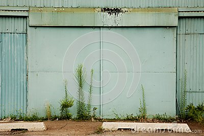 Large Door to an Abandoned Factory