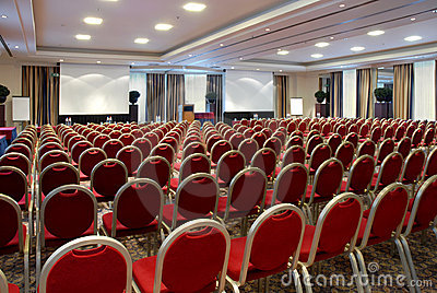 Large empty conference centre