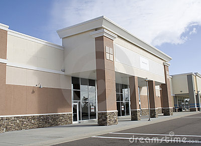Large empty retail store