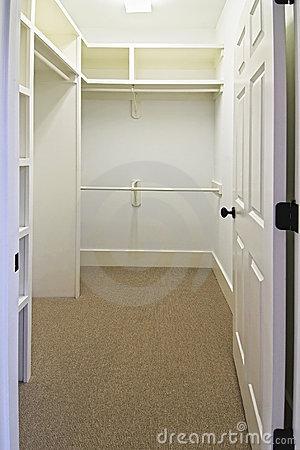 Large Empty Walk In Closet Royalty Free Stock Photos