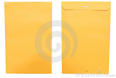 Large envelope front and back