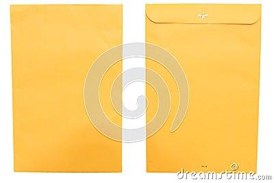 Large envelope front and back