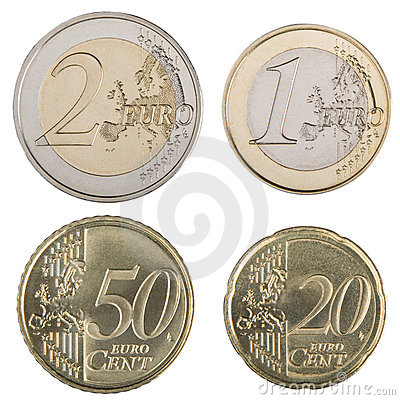 Free Large Euro Coins Royalty Free Stock Photos - 5281468