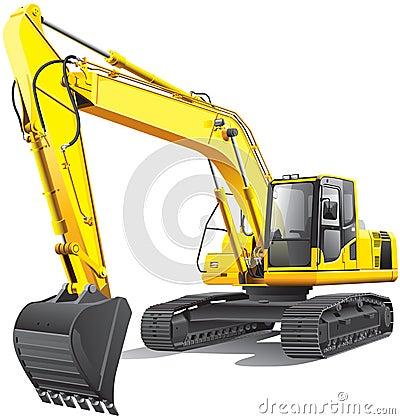 Free Large Excavator Royalty Free Stock Photos - 25617128