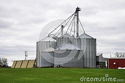 Large farming silos