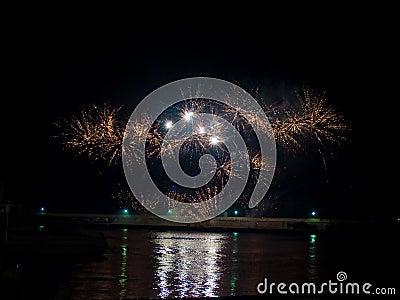 Large festive firework