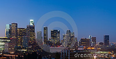Large File Panorama Image of Los Angeles Skyline Editorial Image