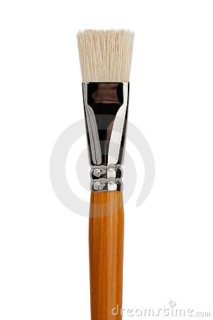 A large flat brush