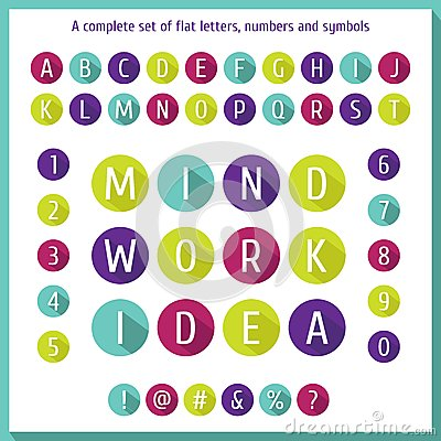 Large Flat Set Of Letters Of The Alphabet, Numbers And Symbols ...