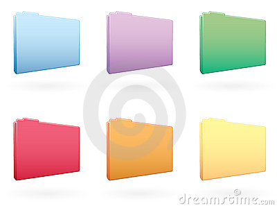 Large Folder Icons EPS