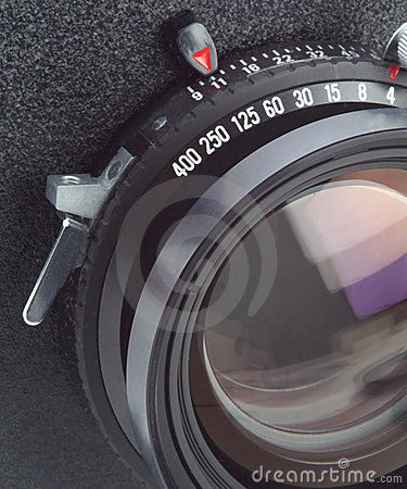 Large format camera lens in macro
