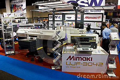 Large Format Digital Inkjet Printer - Mimaki Editorial Stock Photo