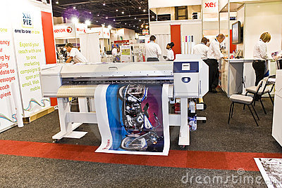 Large Format Digital Inkjet Printer - Xerox Editorial Stock Image