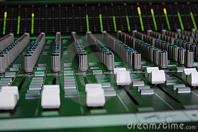 Large Format Sound Console Faders