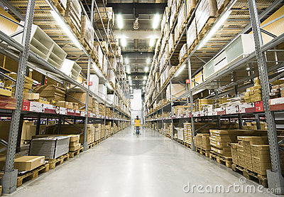 Large Furniture Warehouse Royalty Free Stock Image - Image: 13654306