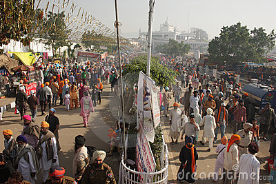 Large gathering of devotees in Punjab, India Editorial Photo