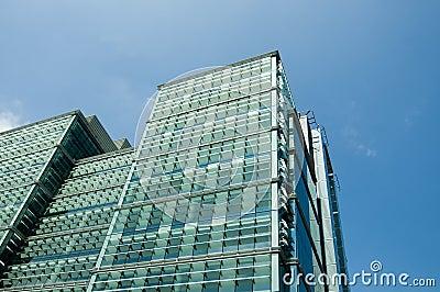 Large glass modern office building design