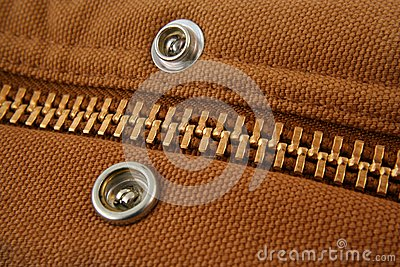 Large gold zipper macro with snaps