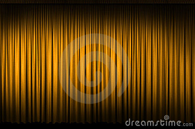 Large Golden Stage Curtain
