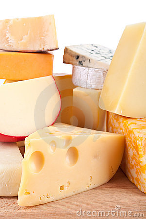 Large group of cheeses