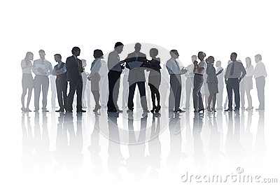 Large Group of Diverse Business People Meeting