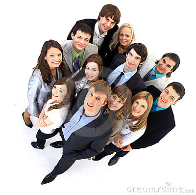 Free Large Group Of Business People Stock Image - 17473021