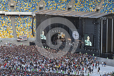 Kasabian rock band performance in Kiev Editorial Image