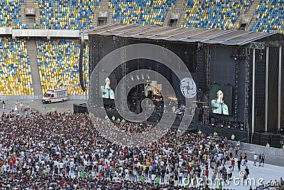 Kasabian rock band performance in Kiev Editorial Image