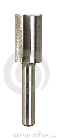 Large half inch wide straight cut router bit
