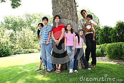 Large happy family