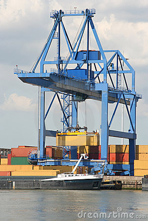 Large Harbor Crane