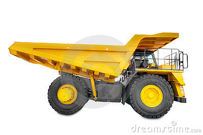Large haul truck side