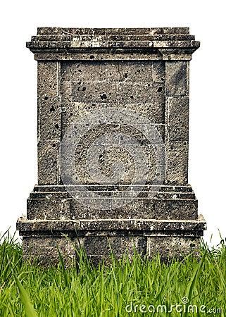 Free Large Headstone Monument On White Background Royalty Free Stock Images - 31017289