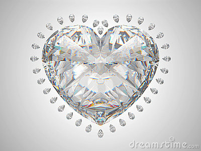 Large heart cut diamond
