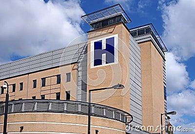 Large hospital building