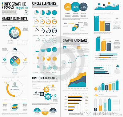 Free Large Infographic Vector Elements Template Designe Royalty Free Stock Photo - 42135725