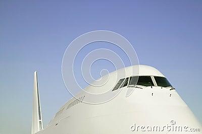 Large jet airplane