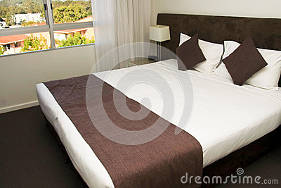 Large king size luxury hotel bed