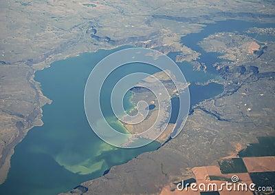 Large Lake Aerial View