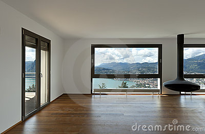 Large living room with panoramic view