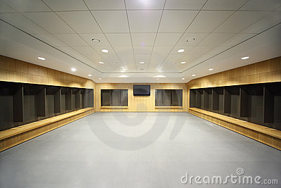 Large locker room.