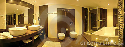 Large luxurious bathroom