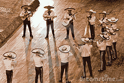 Large mariachi, mexico